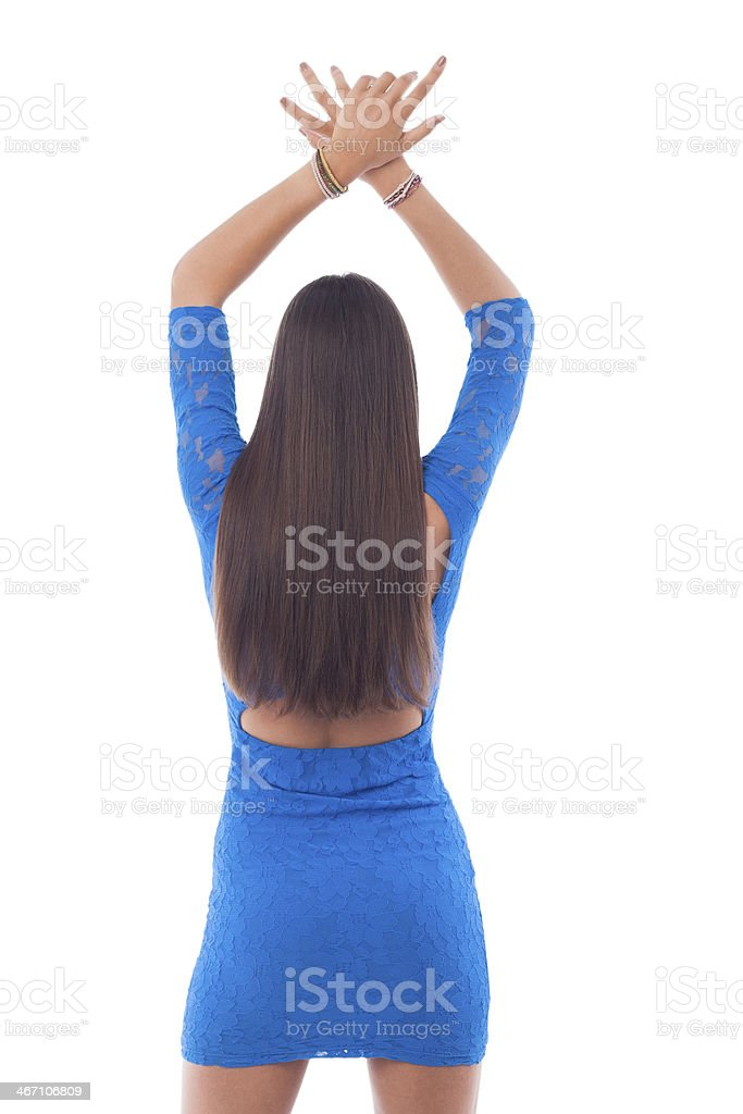 Long hair from behind royalty-free stock photo