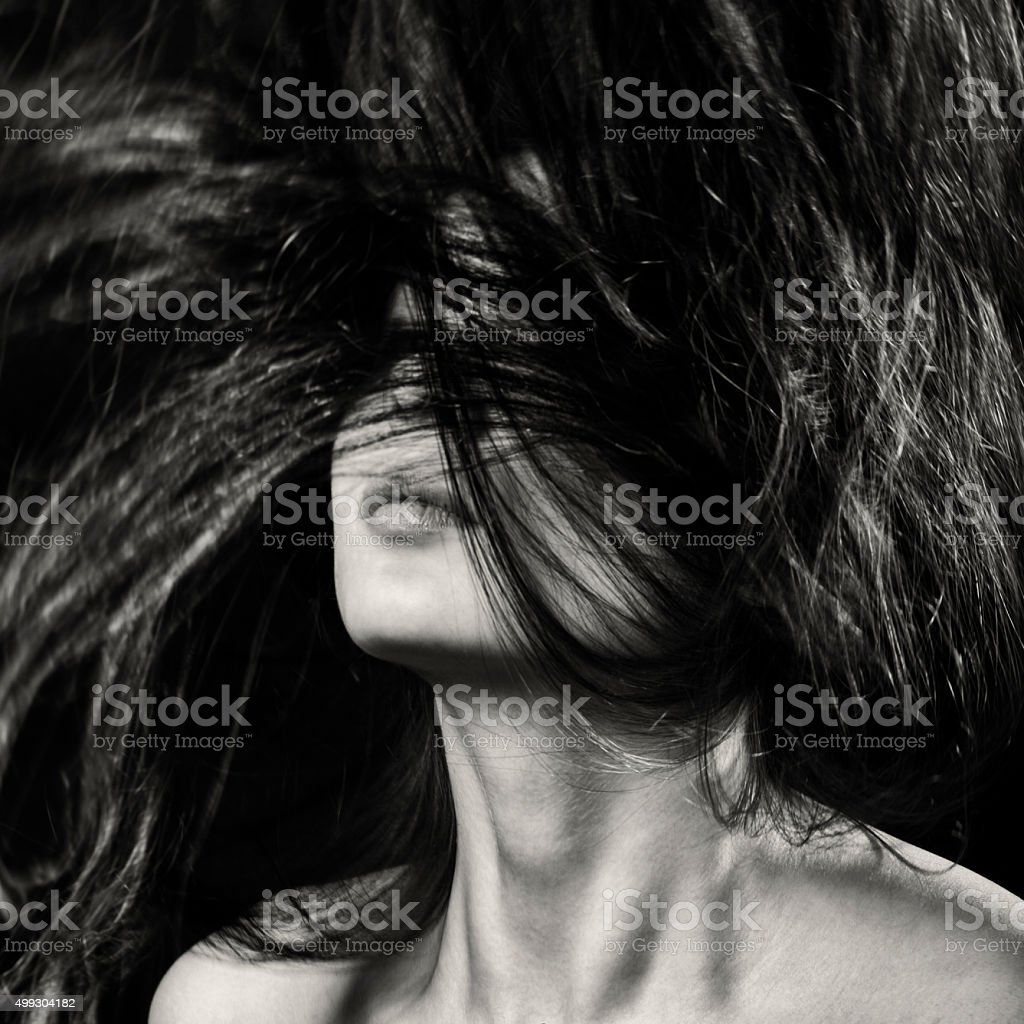 Long Hair In Motion stock photo