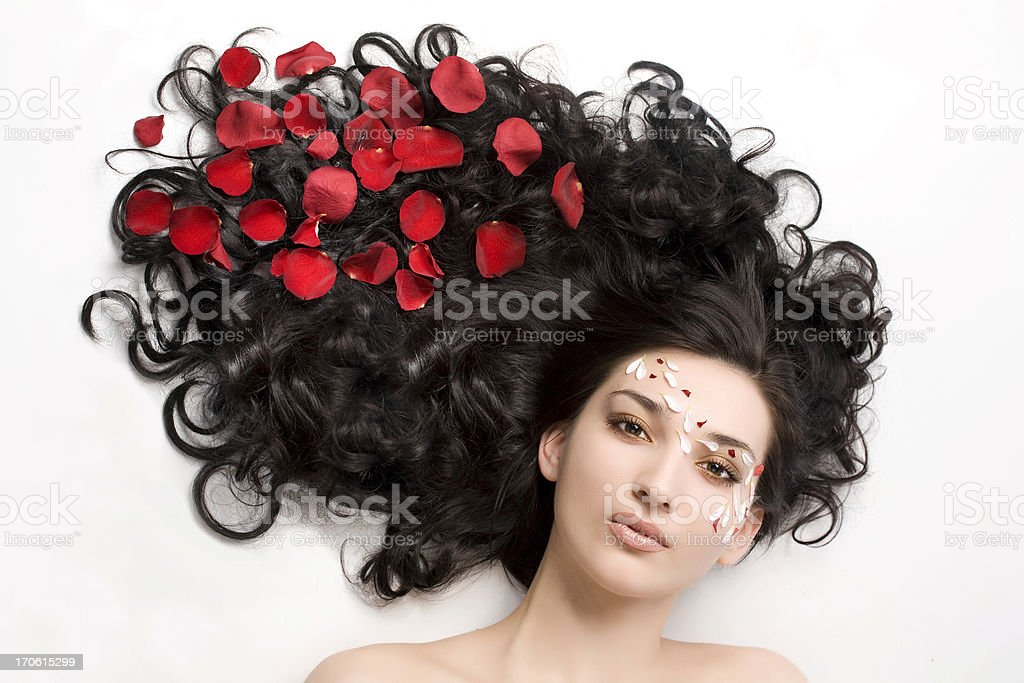Long hair royalty-free stock photo
