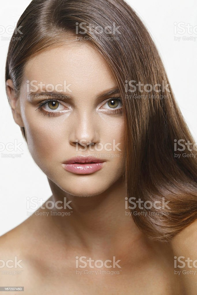 long haired beauty royalty-free stock photo