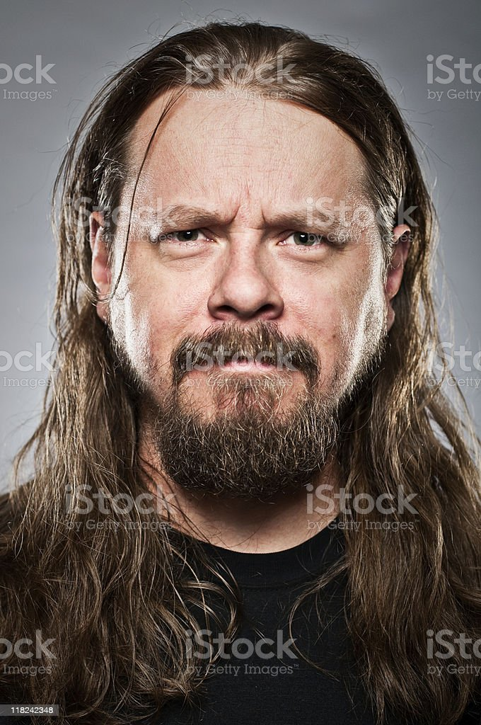 Long haired guy stock photo