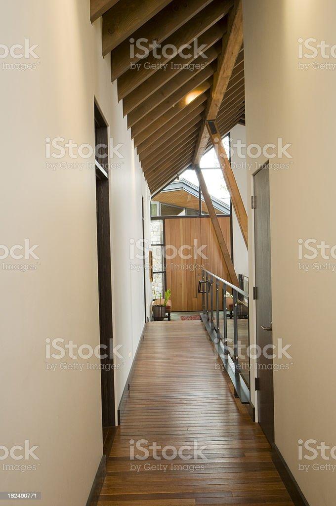 Long hall way royalty-free stock photo