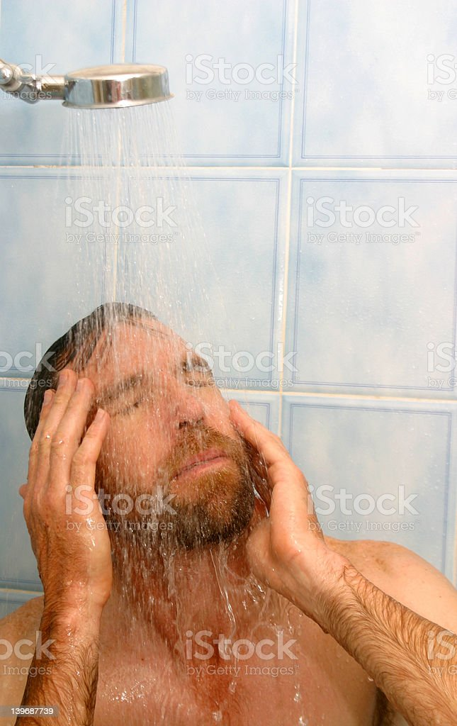 Long Hot Shower royalty-free stock photo