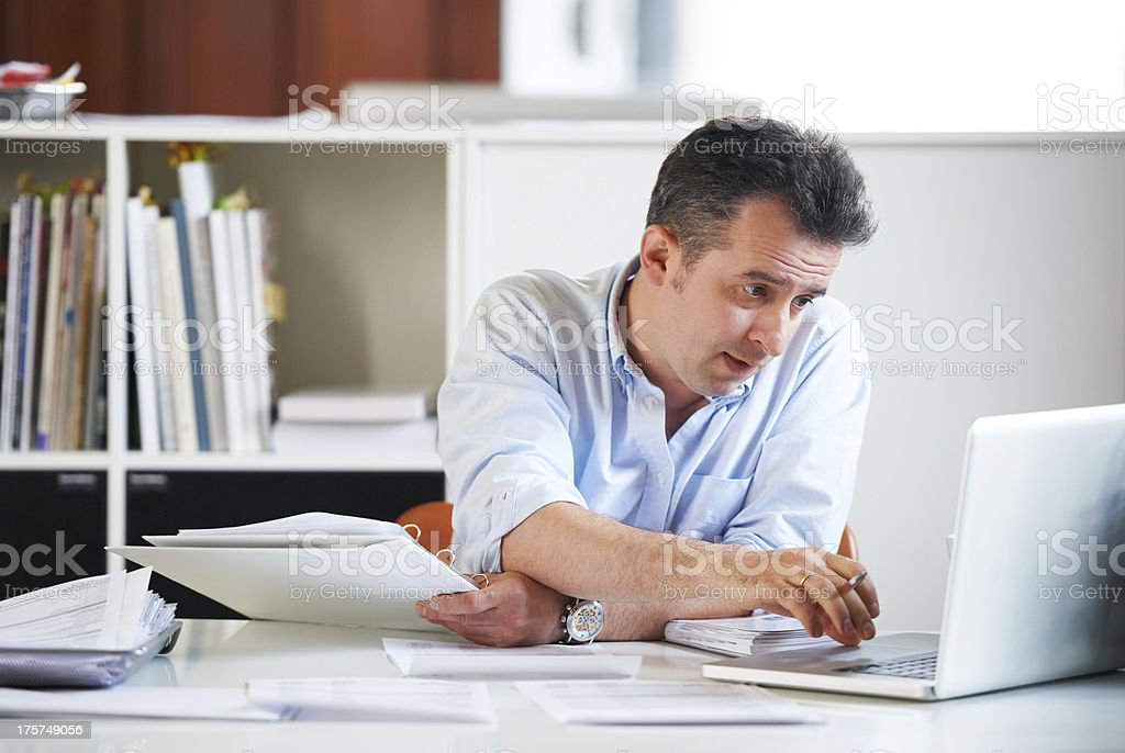 Long hours are taking their toll... royalty-free stock photo