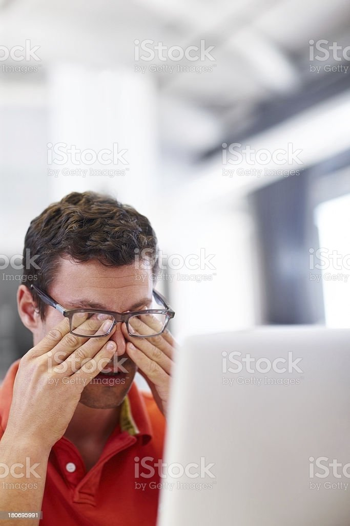Long hours at work getting to you? stock photo