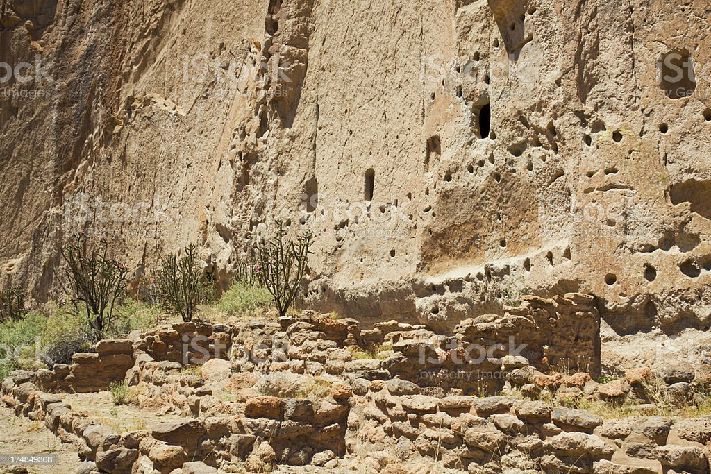 Long House Cliff Dwellings - Bandelier National Monument royalty-free stock photo