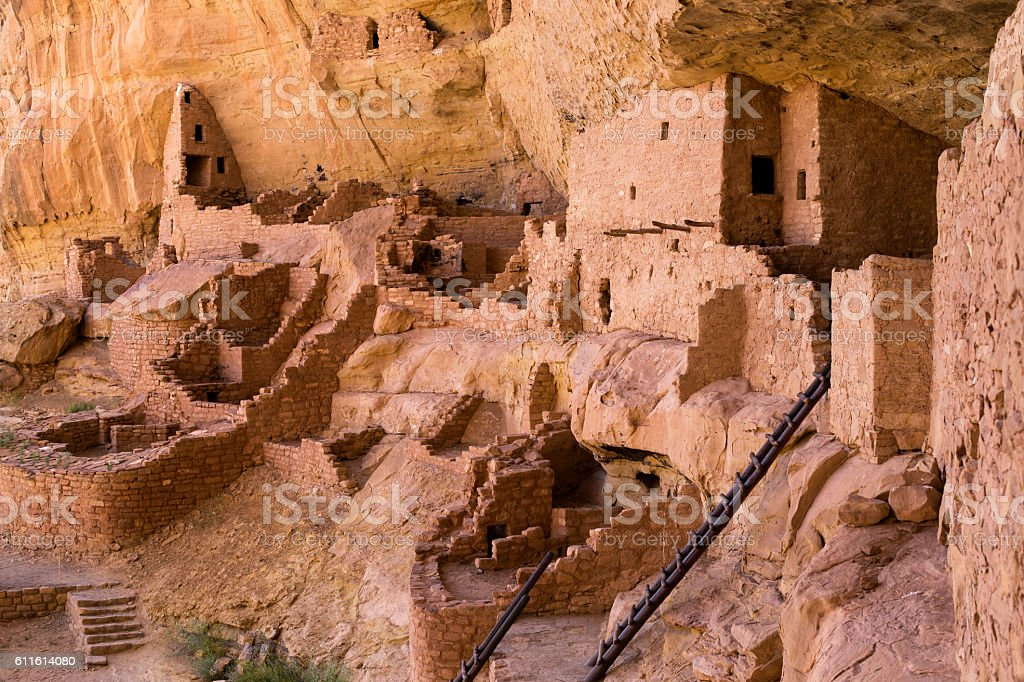 Long House Ruins, Mesa Verde National Park, Colorado stock photo