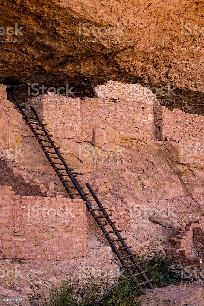 Long House Ruins, Mesa Verde National Park, Colorado, USA. stock photo