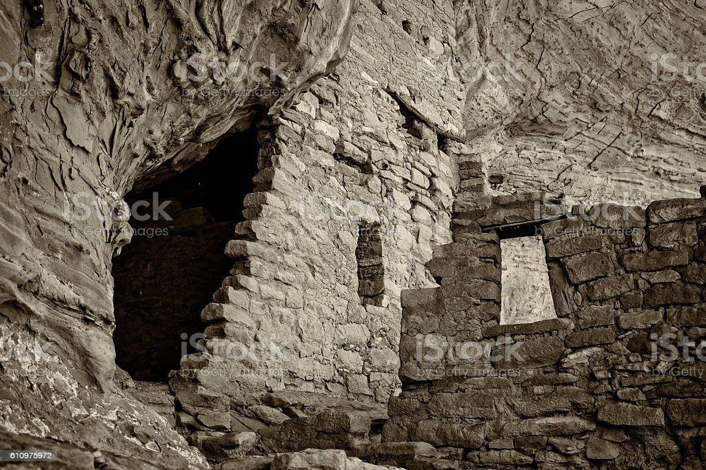 Long House Ruins, Mesa Verde National Park stock photo