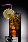 Long Island Cocktail on black