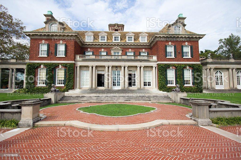 Long Island Gold Coast Mansion stock photo