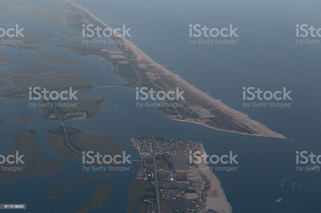 Long Island Jones Beach Aerial stock photo