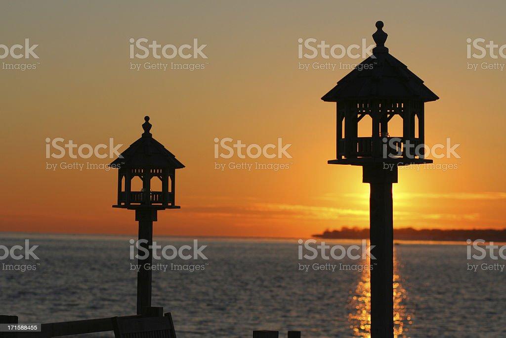 Long Island Sound Silhouette stock photo