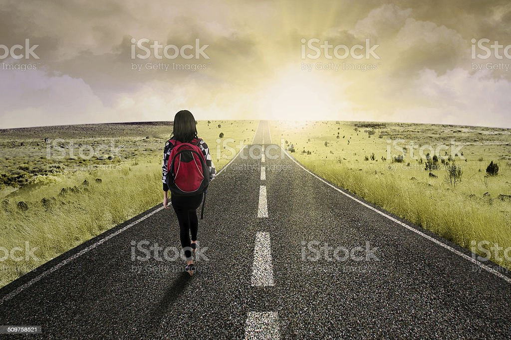 Long journey for success 1 stock photo
