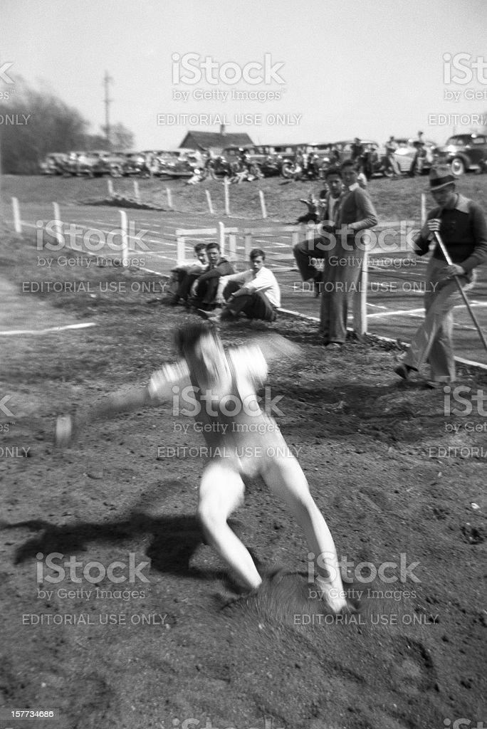 long jump 1941 royalty-free stock photo