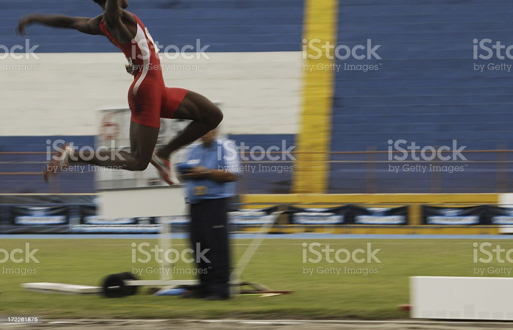 long jump action royalty-free stock photo