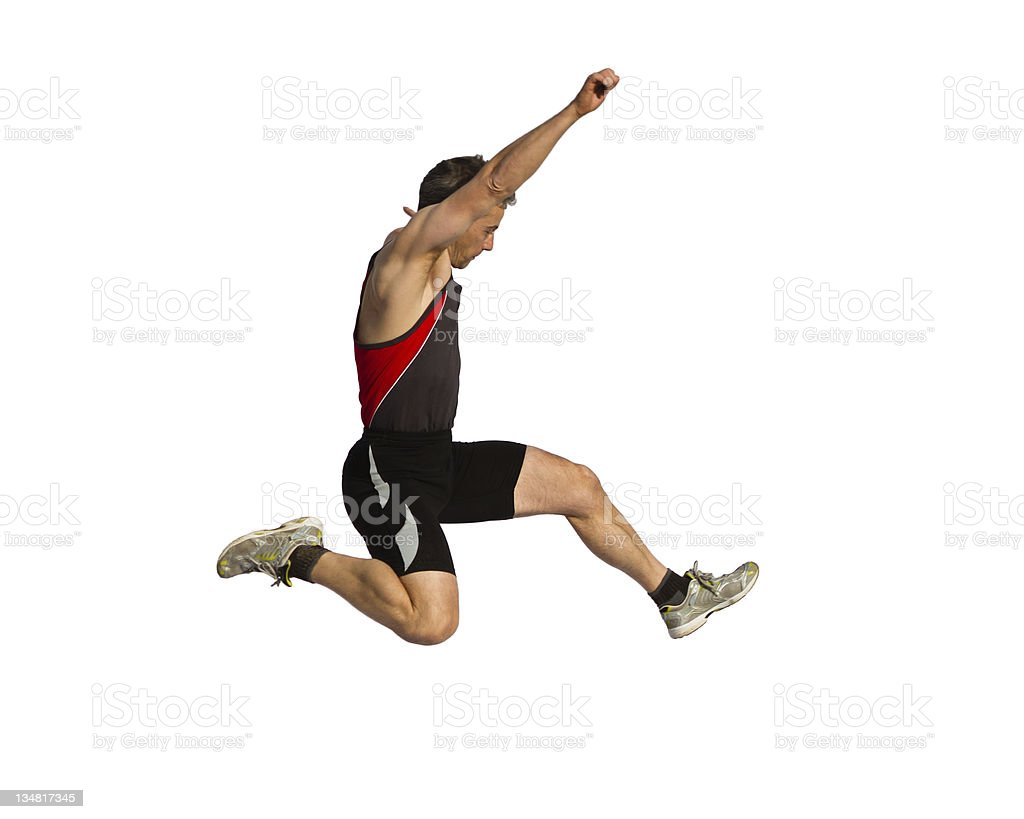 long jump royalty-free stock photo