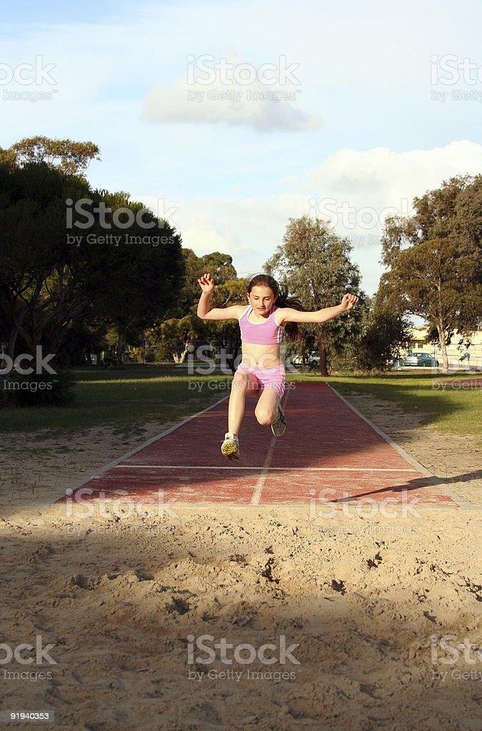 Long jump royalty-free stock photo