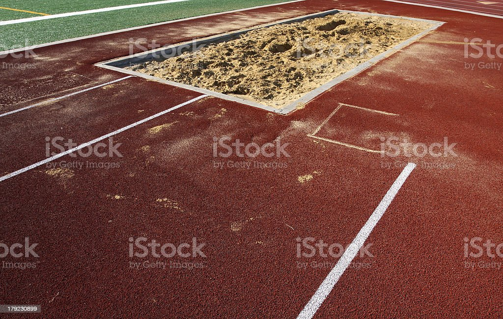 Long Jump Sand Pit royalty-free stock photo