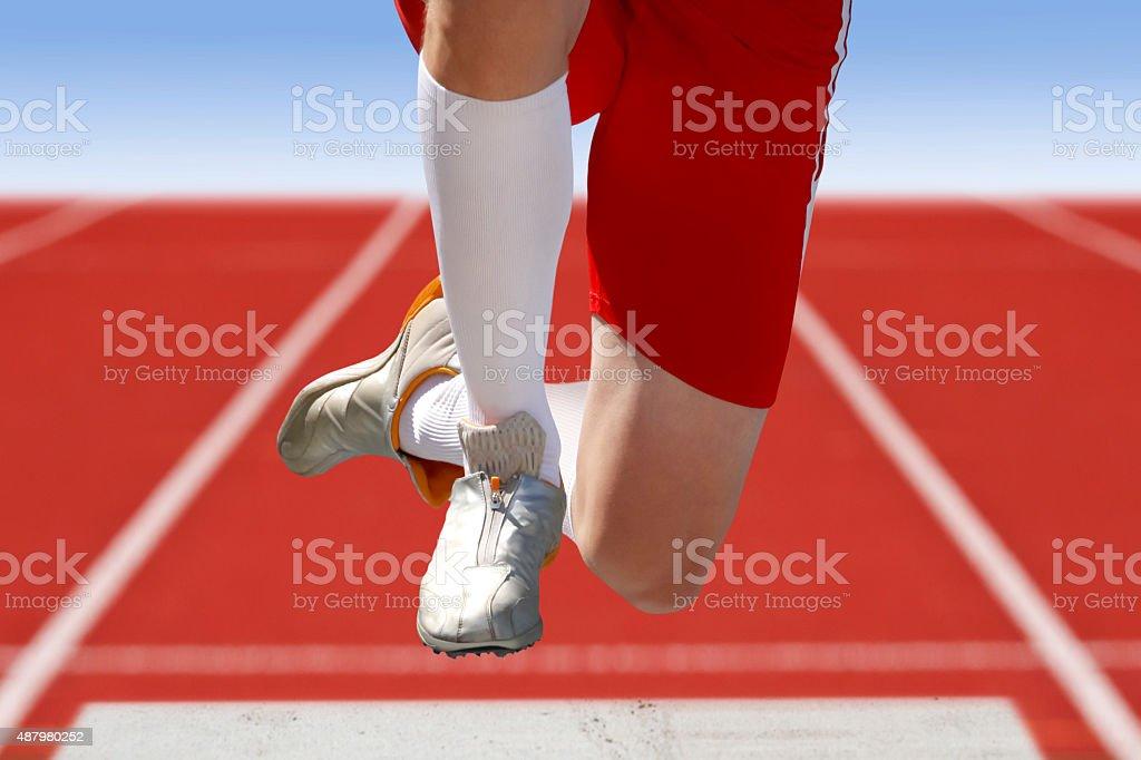 long jumper stock photo