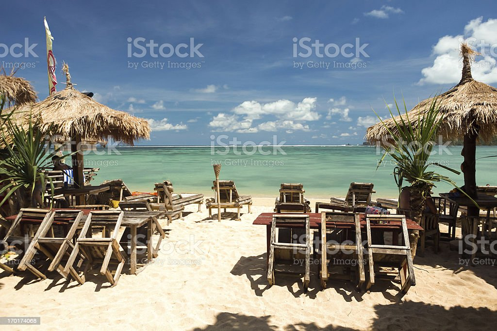 Long Kuta Sand Beach stock photo
