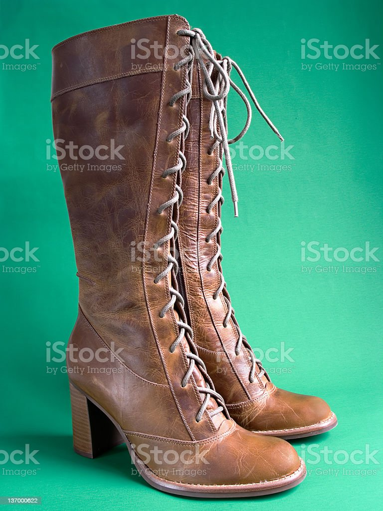 Long Lace Up Boots stock photo
