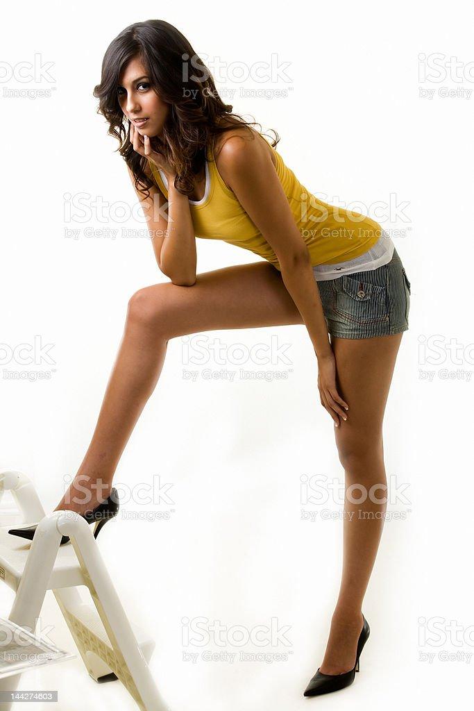 Long leg woman royalty-free stock photo