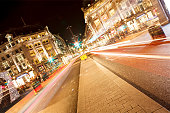 Long light trails on the Oxford Circus, London