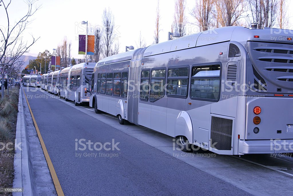 Long Line of Transit royalty-free stock photo