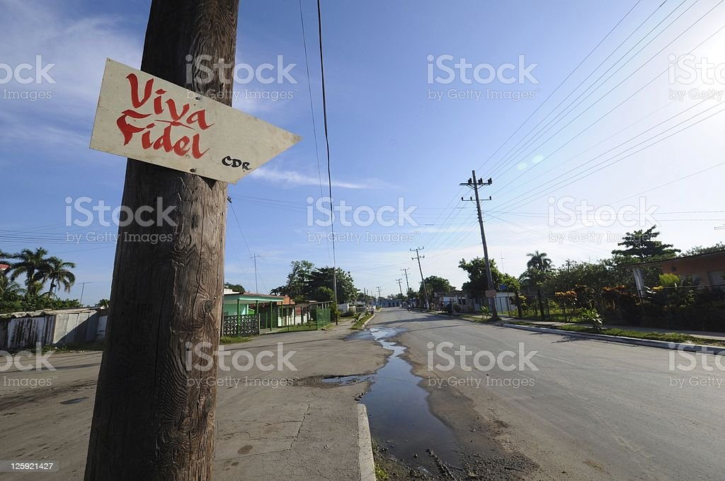 Viva Fidel! stock photo