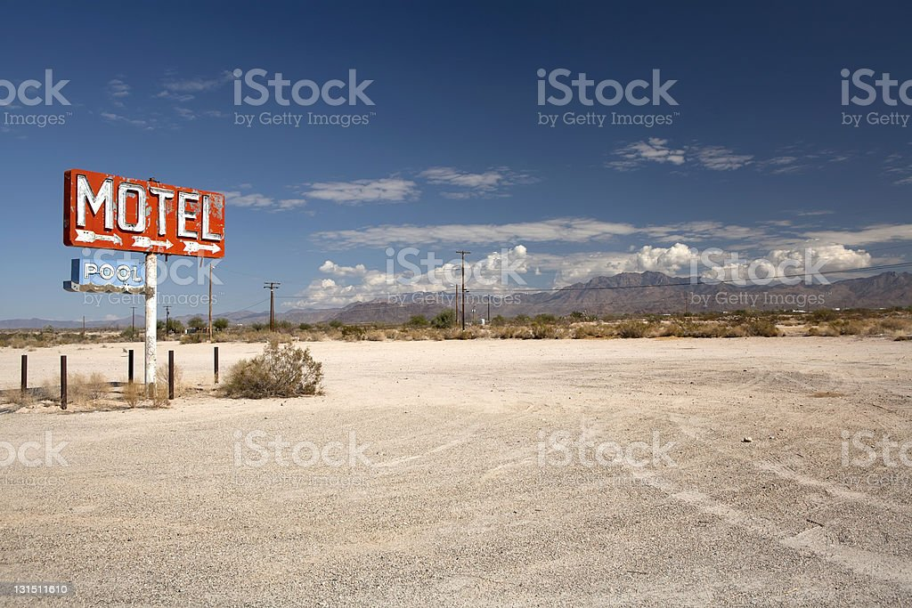 Long lost motel stock photo