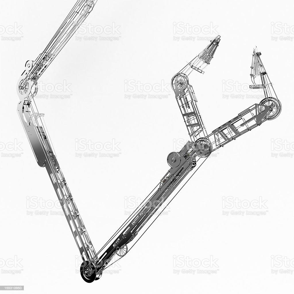 Long Mechanical Arm royalty-free stock photo