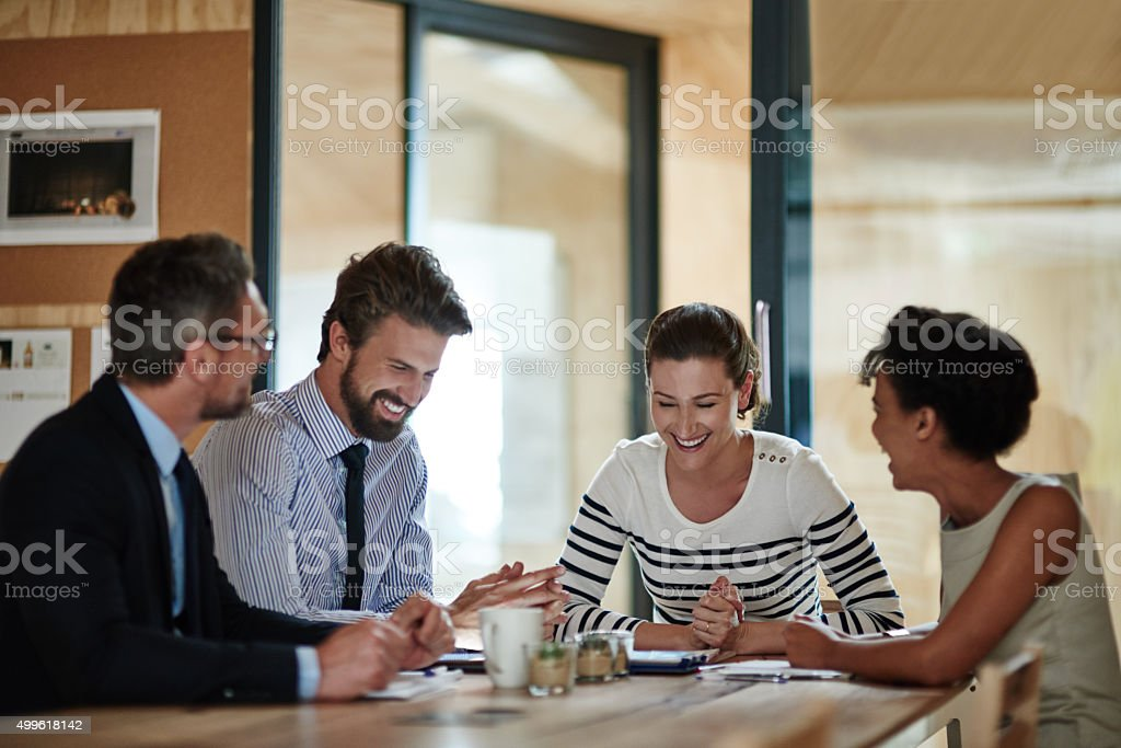 Long meetings don't have to be boring... stock photo