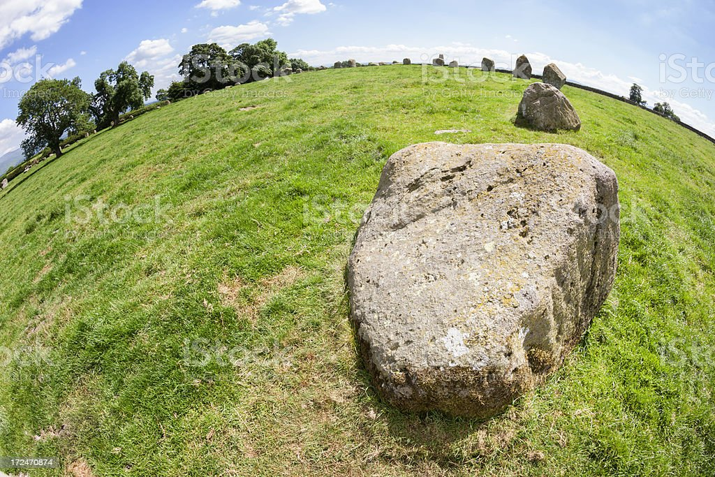 Long Meg And Her Daughters Stone Circle royalty-free stock photo