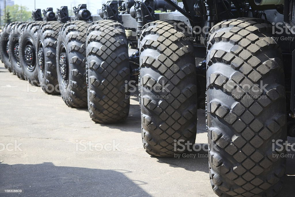 long military truck chassis stock photo