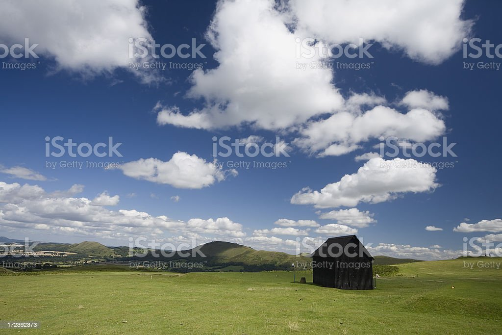 Long Mynd Golf Course Hut royalty-free stock photo