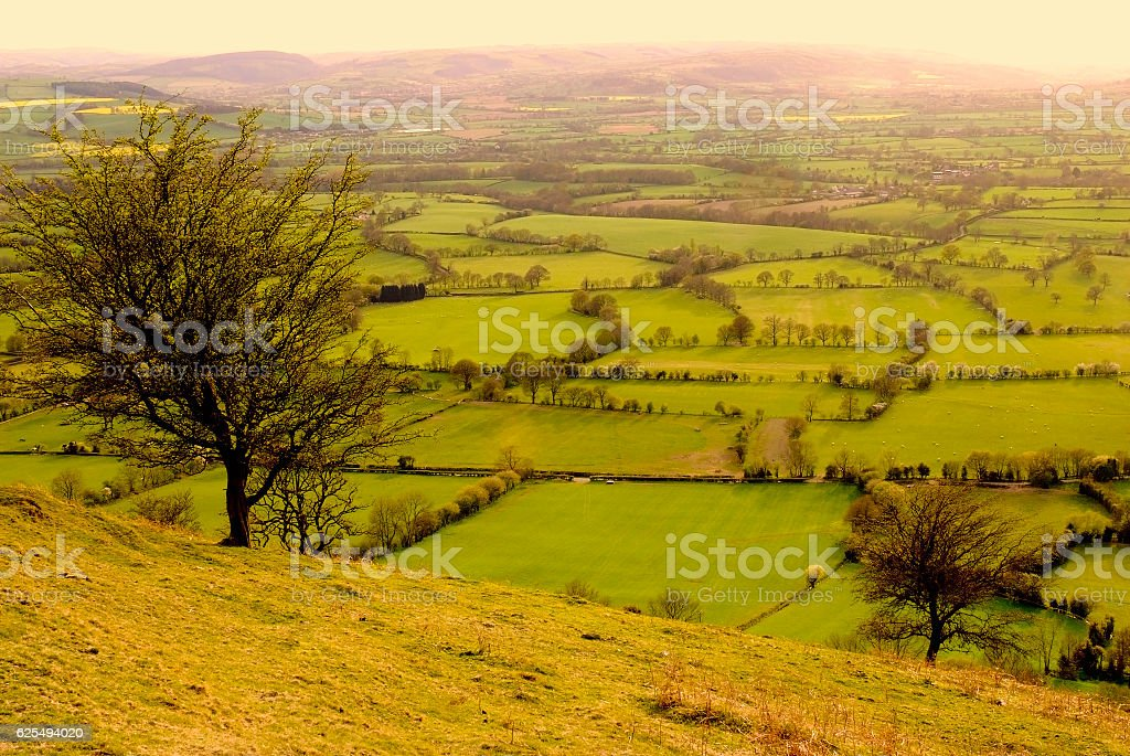 long mynd hills shropshire england uk stock photo