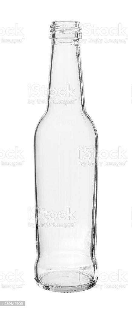 Long Neck Bottle Threaded Mouth isolated on white background stock photo