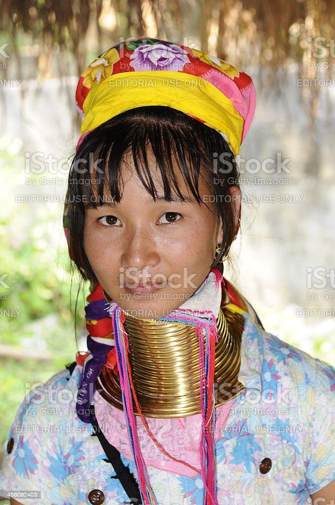 Long Neck Karen Girl stock photo