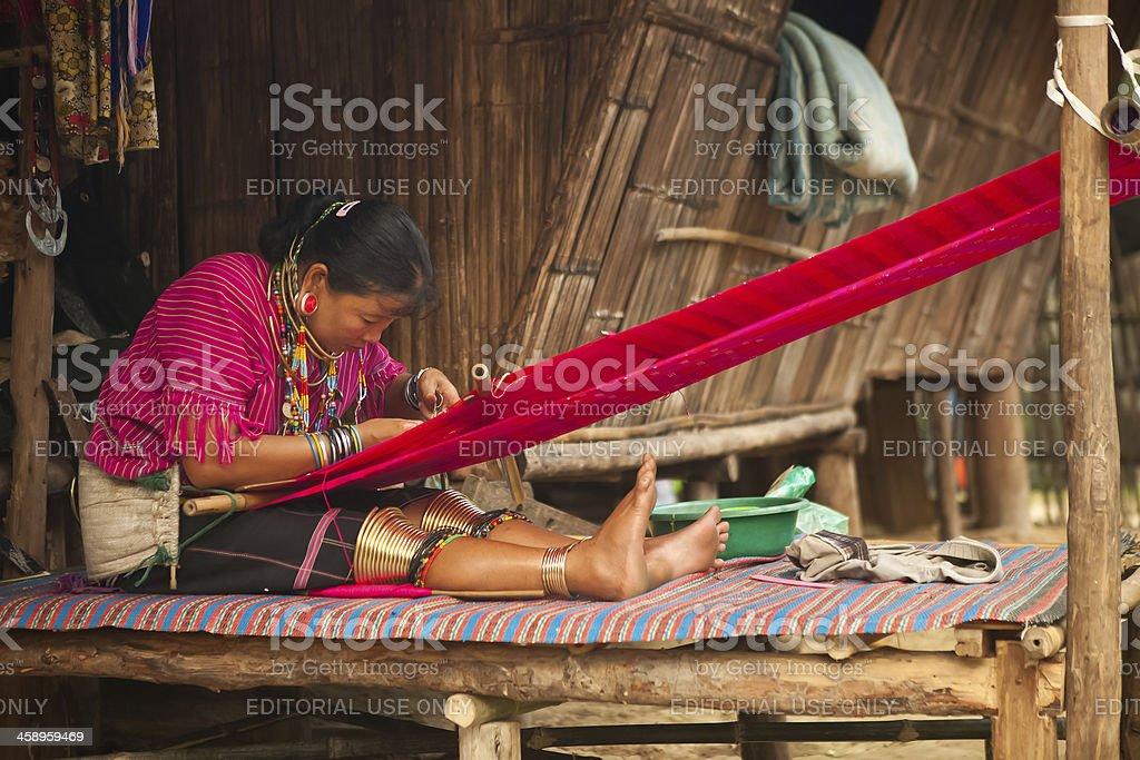 Long Neck Karen Tribe Woman stock photo