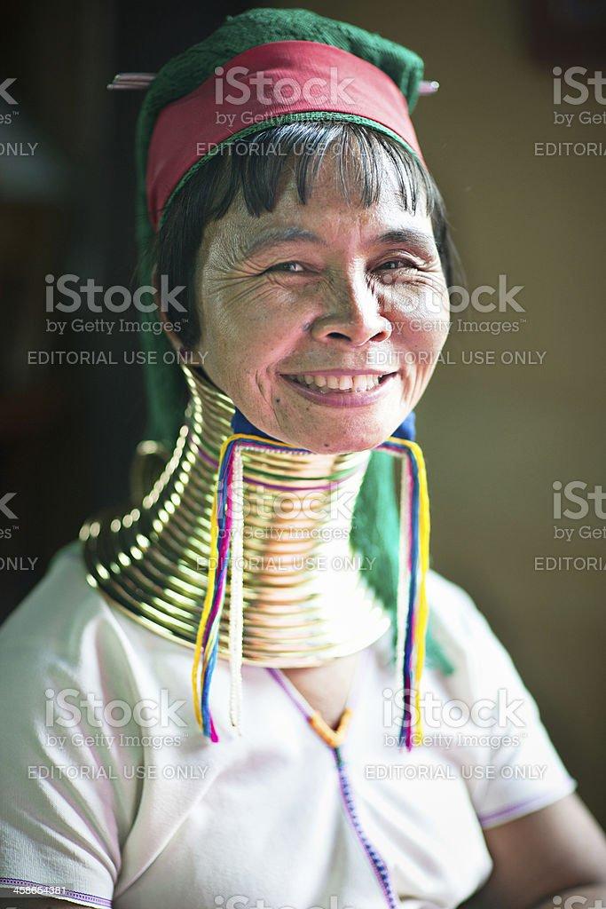 Long Neck Padaung Tribe woman stock photo