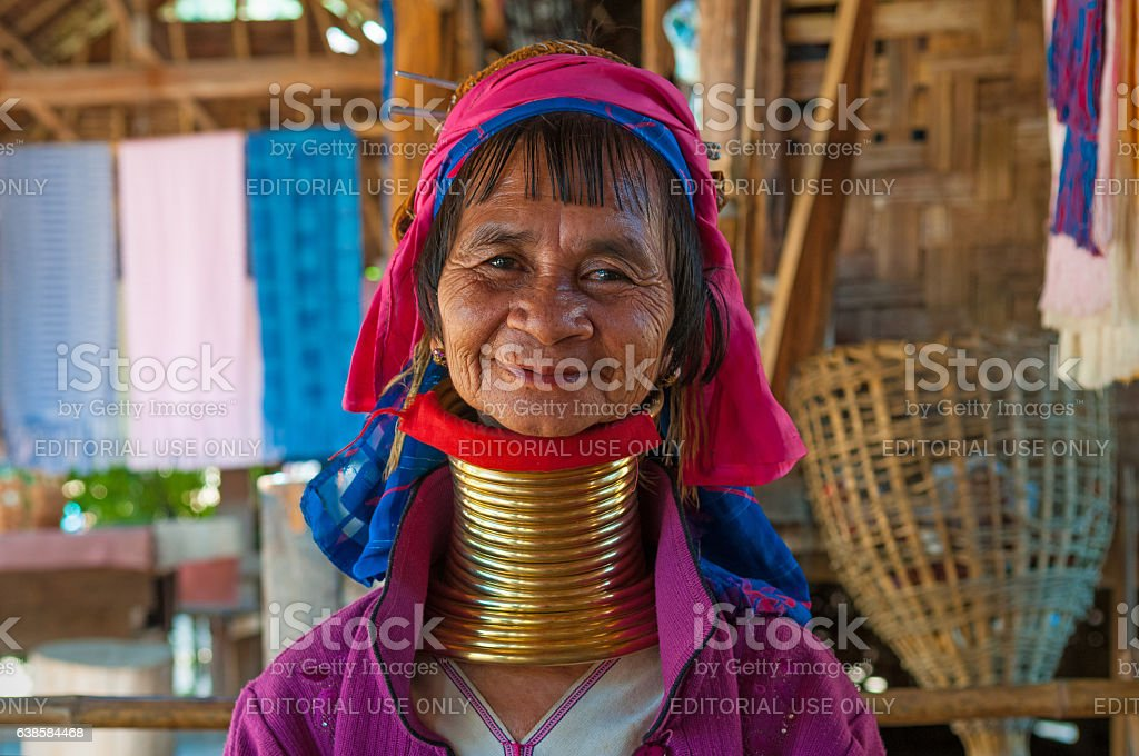 Long Neck Woman stock photo
