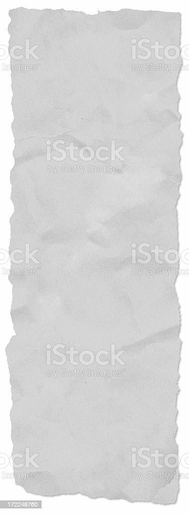 Long newspaper tear, w/ drop shadow royalty-free stock photo