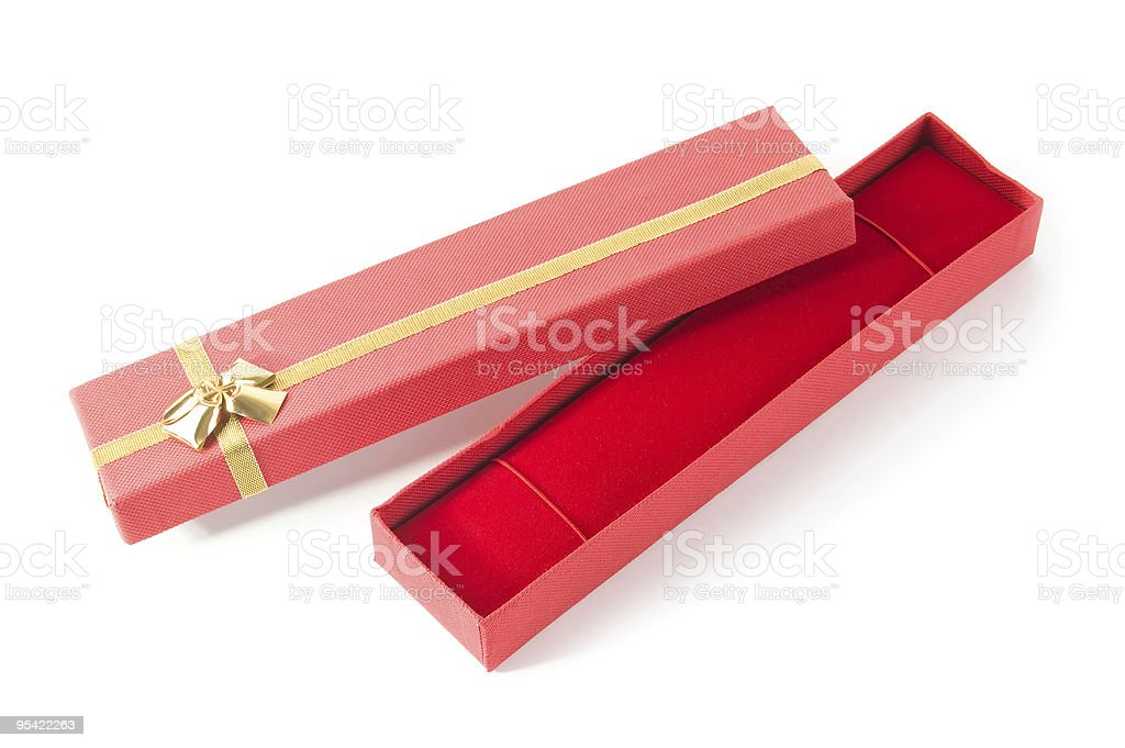 long open red gift box royalty-free stock photo