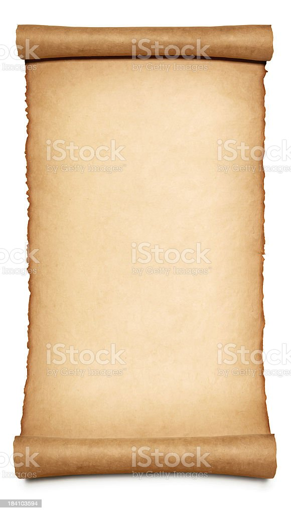 Long Paper Scroll royalty-free stock photo
