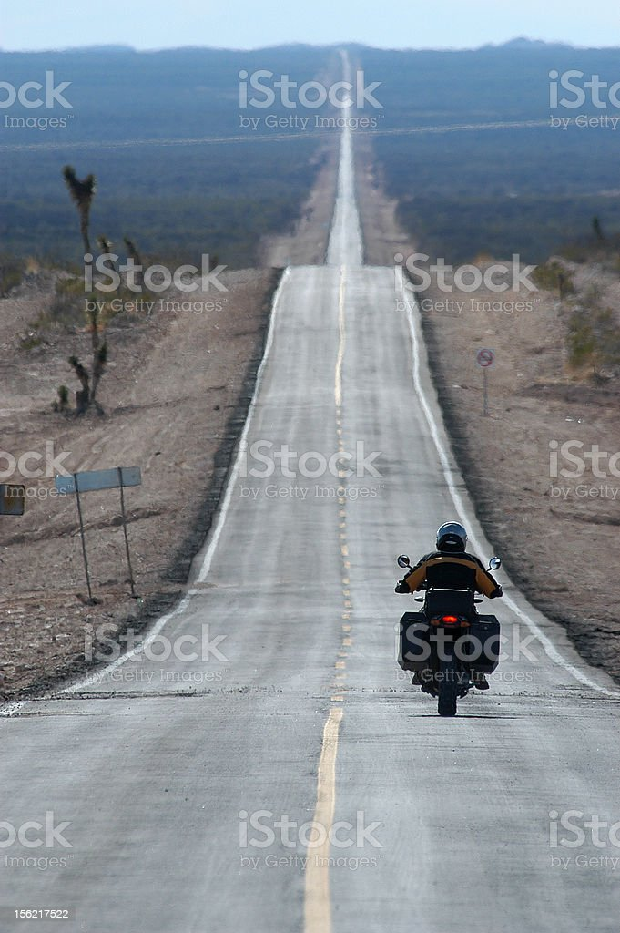Long Paved Road stock photo