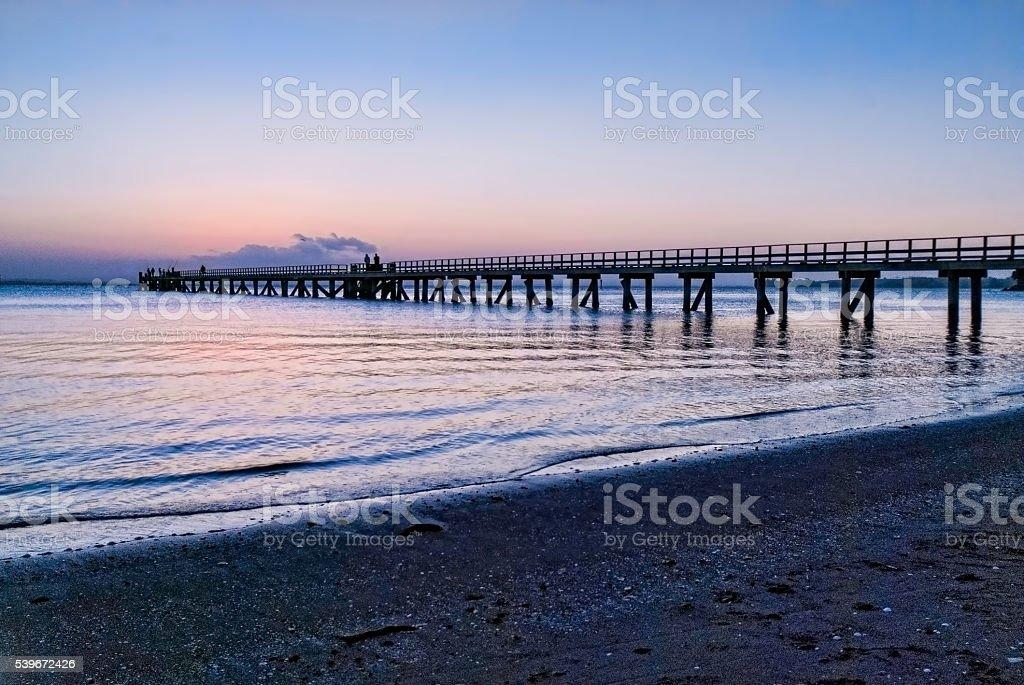 Long pier stock photo