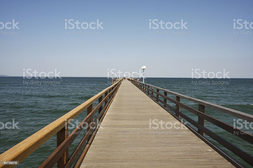 Long Pier royalty-free stock photo