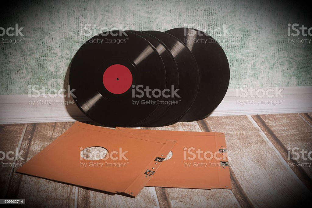 Long playing record stock photo