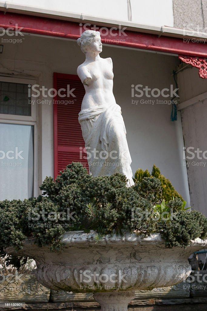 A long portrait shot of a copy of Venus De Milo stock photo